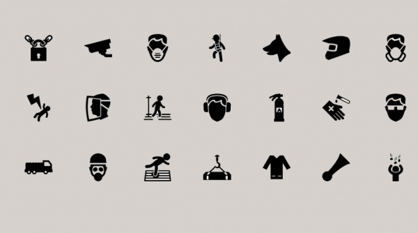 Dark Shaded Safety icons