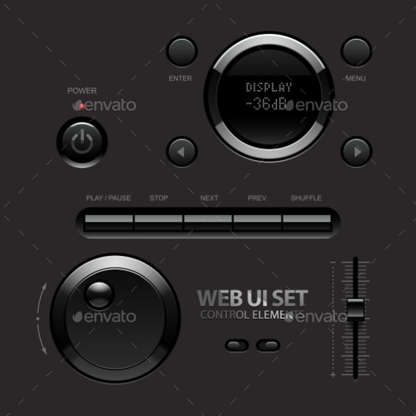 Dark UI Web Buttons
