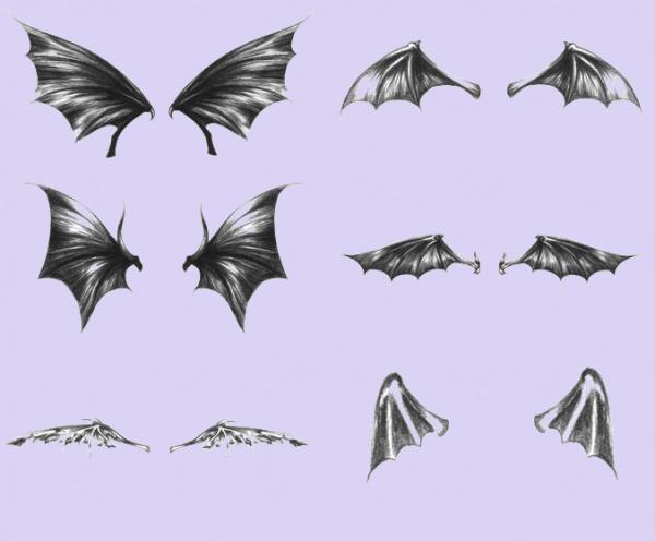Dark wings Sketchy brushes