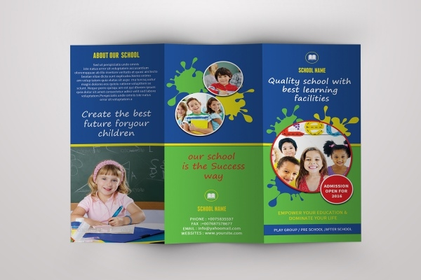 Daycare Brochure Templates  Psd Vector Eps Jpg Download