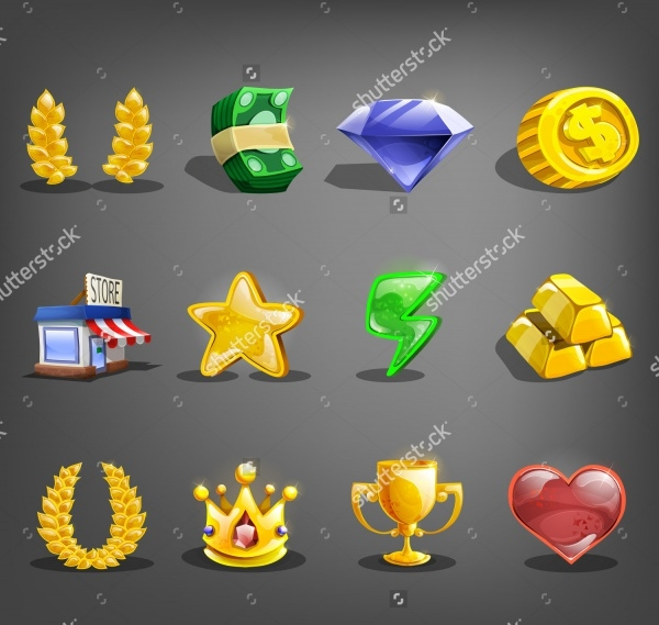 Decoration Cartoon Game Icons