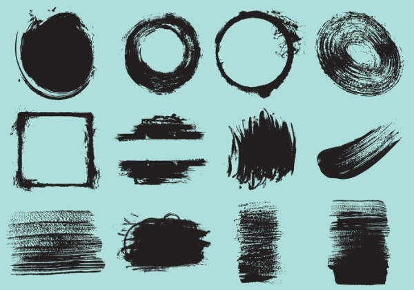 Decorative Brush Stroke Vectors