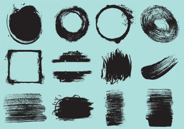 Decorative Brush Stroke Vectors