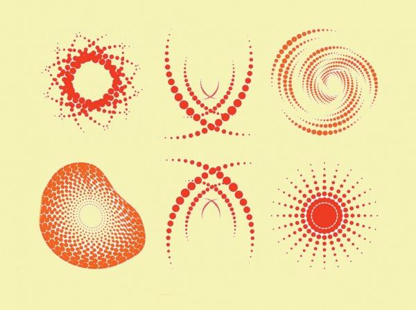 Decorative Halftone Graphics Vector