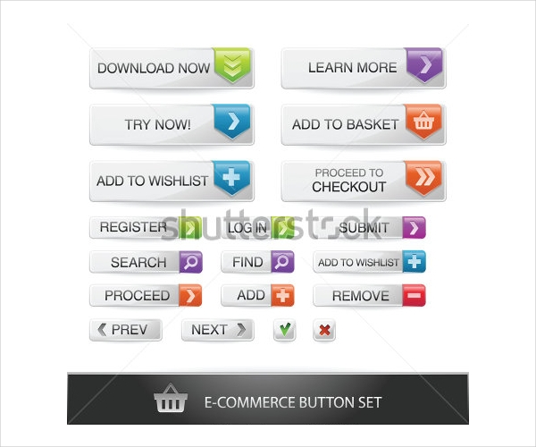 Delicious E-commerce Web Button Set