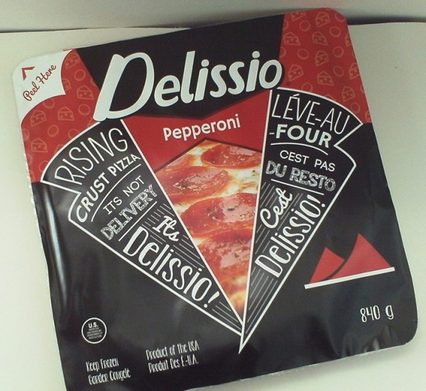 Delissio Pizza Packaging Redesign