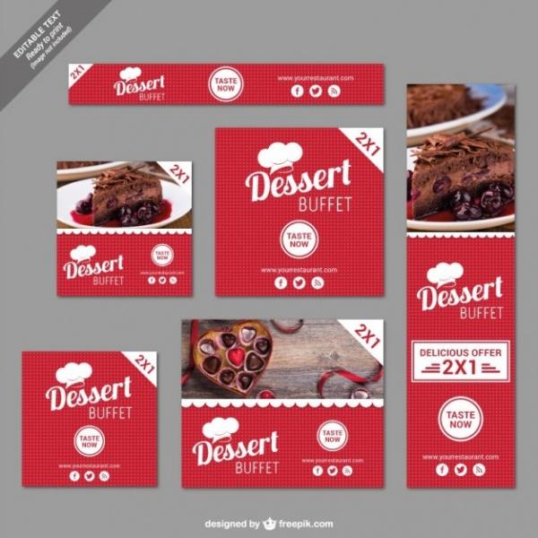 Dessert Buffet Discount Restaurant Banner