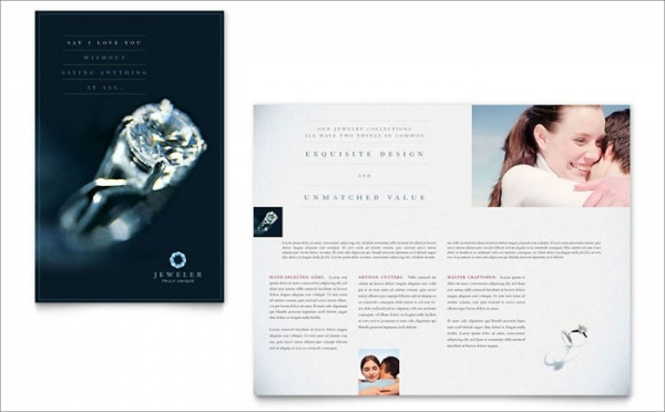 Diamond Jewelry Brochure Template