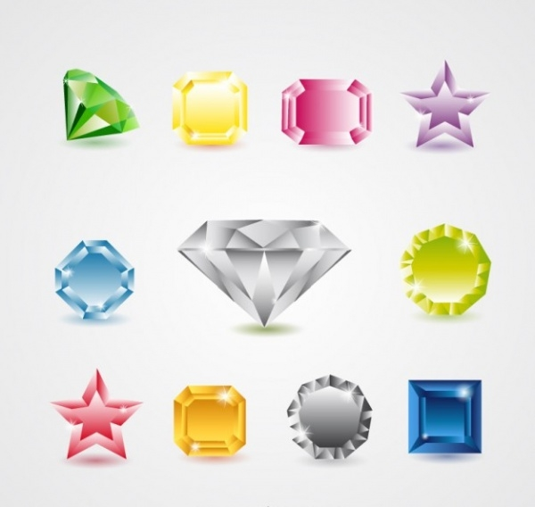 Diamond Jewels Collection Vector