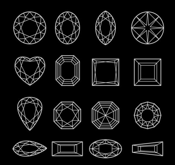 Diamond Line Art Vector