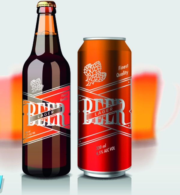 Different Beer Bottle Vector