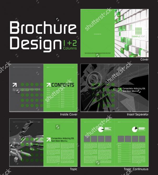 digital company layout brochure