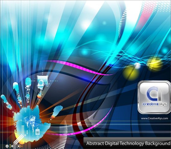 Digital Technology Vector Background