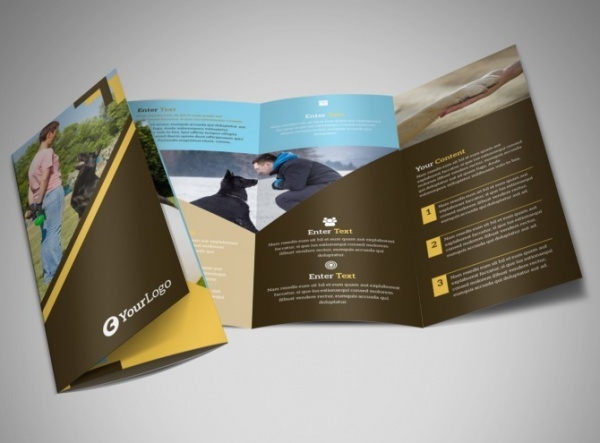 Dog Training Tri-Fold Brochure Template