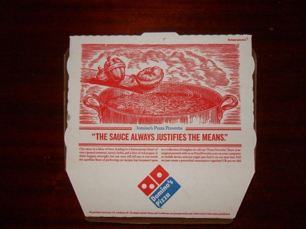 Domino's Pizza Packaging Box