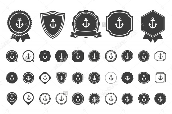Doodle Style Anchor Icons