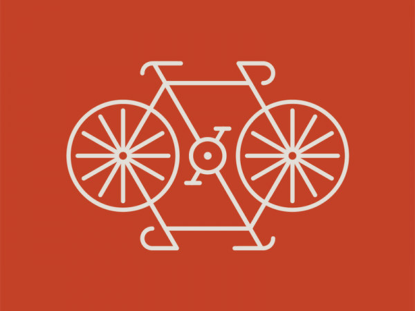 Double Bike Outlined vector