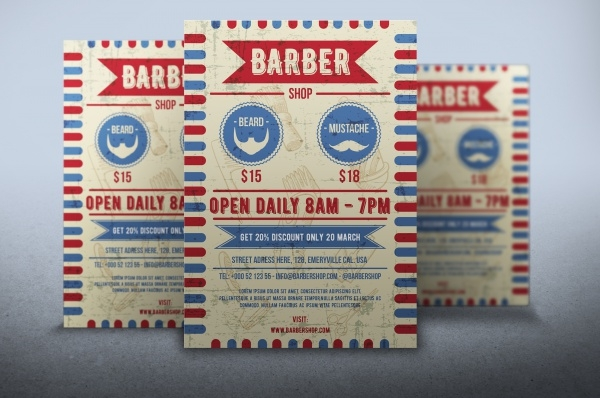 Downlaod Vintage Barbershop Flyer