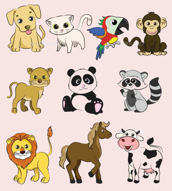 Download Animals Vector Set