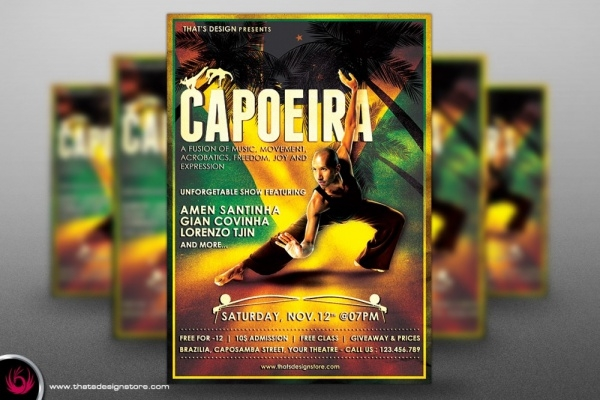 Download Capoeira Flyer Template