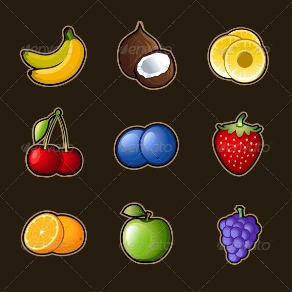 Download Delicious Fruits Icons