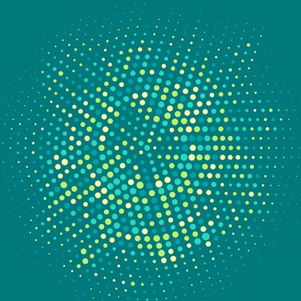 Dynamic Halftone Dots Vector