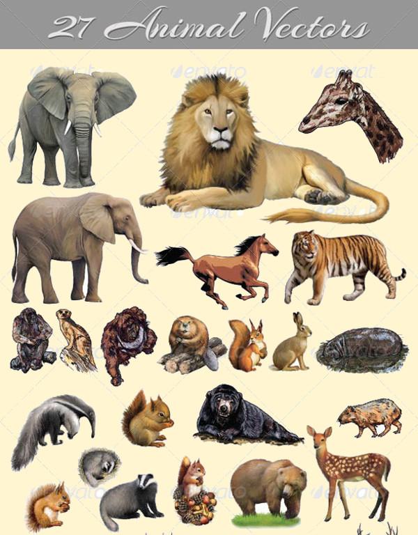 EPS Format Animal Vectors
