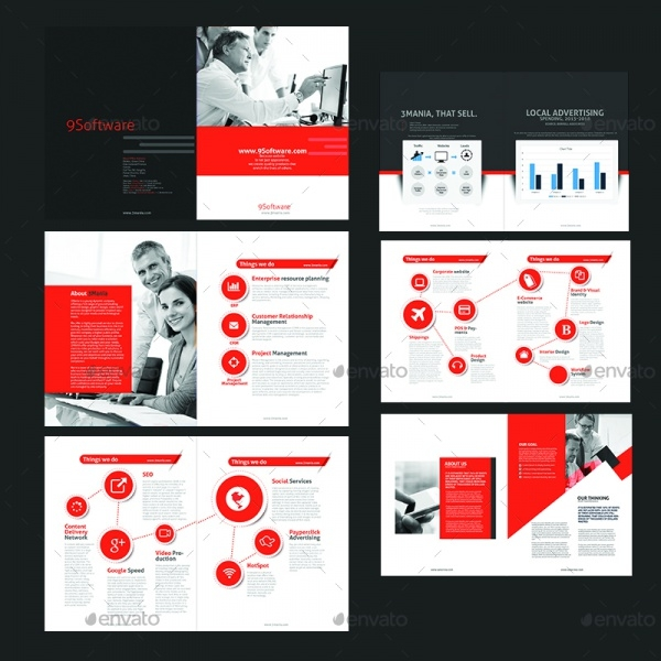 ERP Services Brochure Design