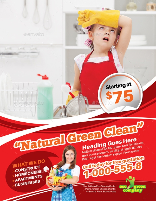 Eco Cleaning Flyer Template