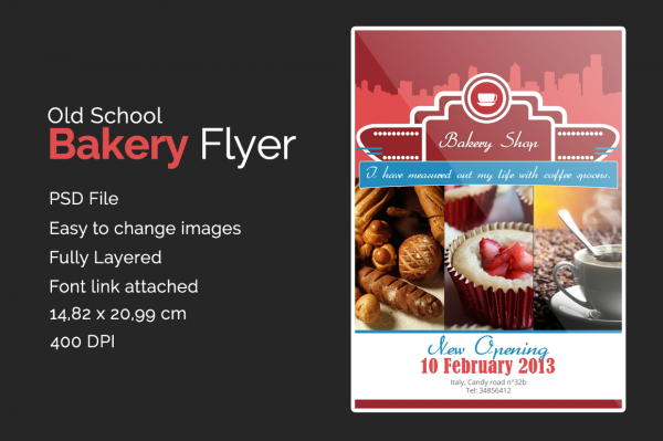 Editable Bakery Flyer Tempalate