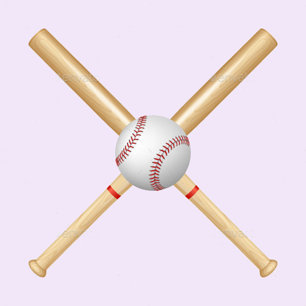 Editable Baseball Bat Vector