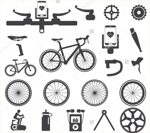 Editable Bike Icons Bundle