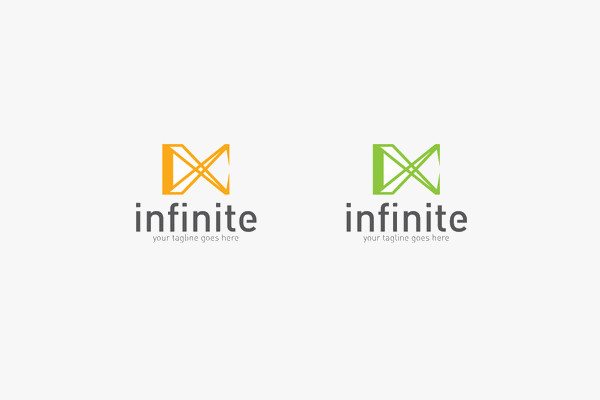 editable infinite design logo