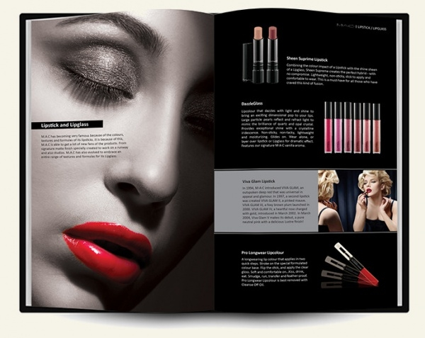 Editorial Cosmetic Advertising Brochure