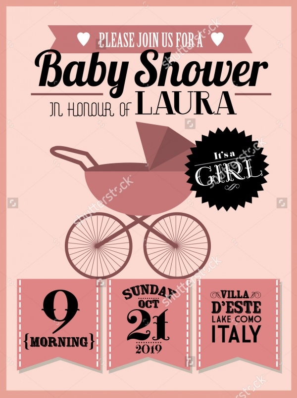 Elegant Baby Shower Invitation Design