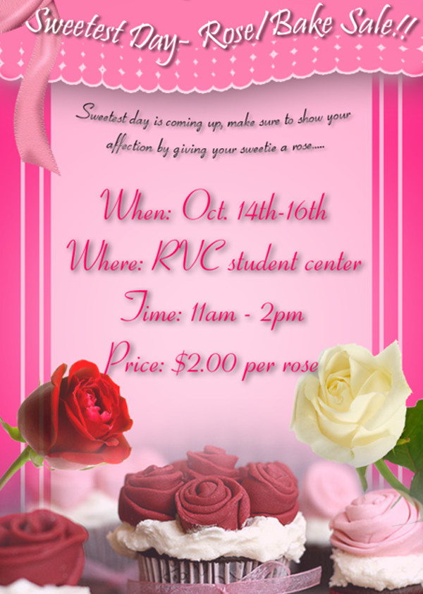 Elegant Bake Sale Flyer