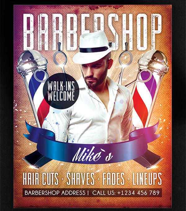 Elegant Barbershop Flyer Deign