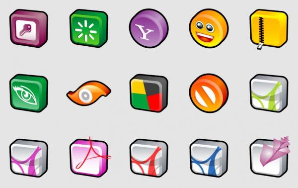 Elegant Cartoon Icons For Desktop