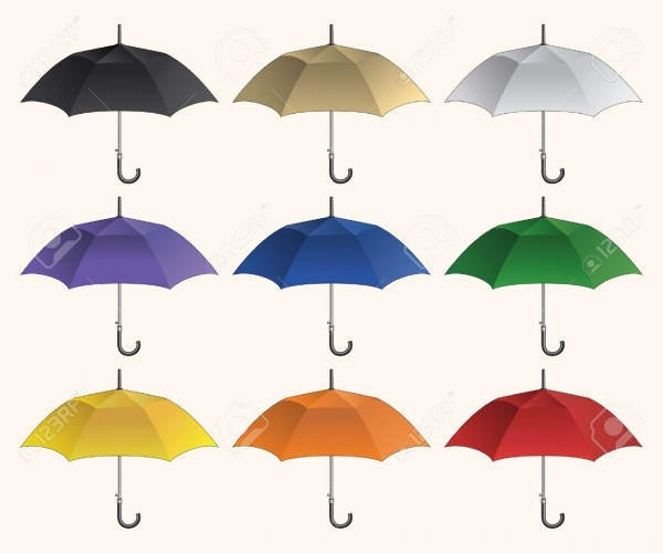 Elegant Colored Umbrella Mockup