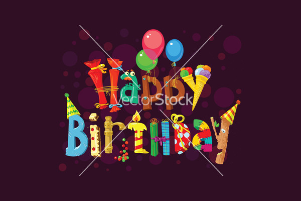 Elegant Cool Birthday vector
