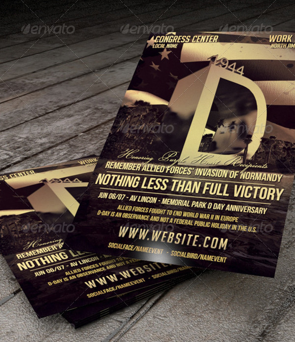 Elegant D Day Flyer Design