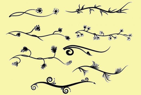 Elegant Decorative Swirl Vectors