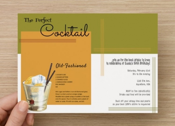 Elegant Era Cocktail Party Invitation