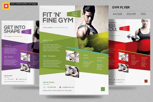 Elegant Fitness Gym Flyer