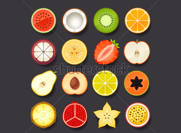 Elegant Fruit Icons Pack