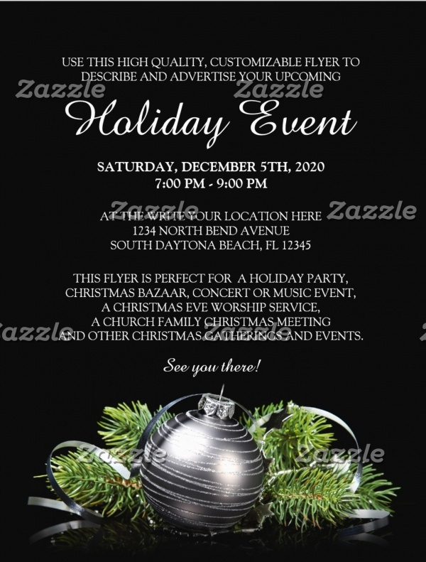 Elegant Holiday Party Flyer Template