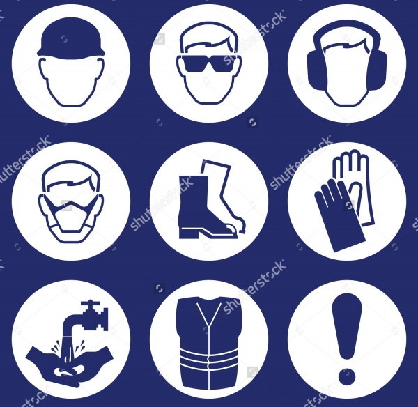Elegant Industrial Safety Icons