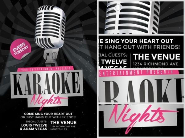 Elegant Karaoke Night Flyer Template