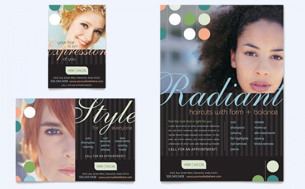 Elegant Salon Flyer & Ad Template