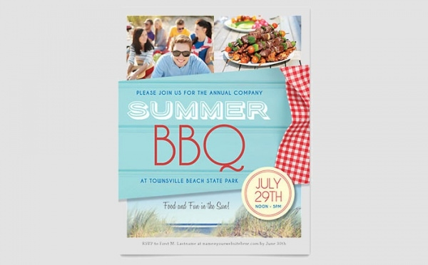 Elegant Summer BBQ Flyer